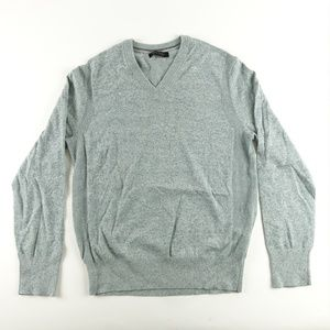 Banana Republic V Neck Gray Mens Cashmere Sweater